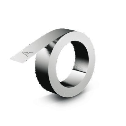 Ruban 3D industriel - 12 mm x 4.80 m - aluminium sans adhésif