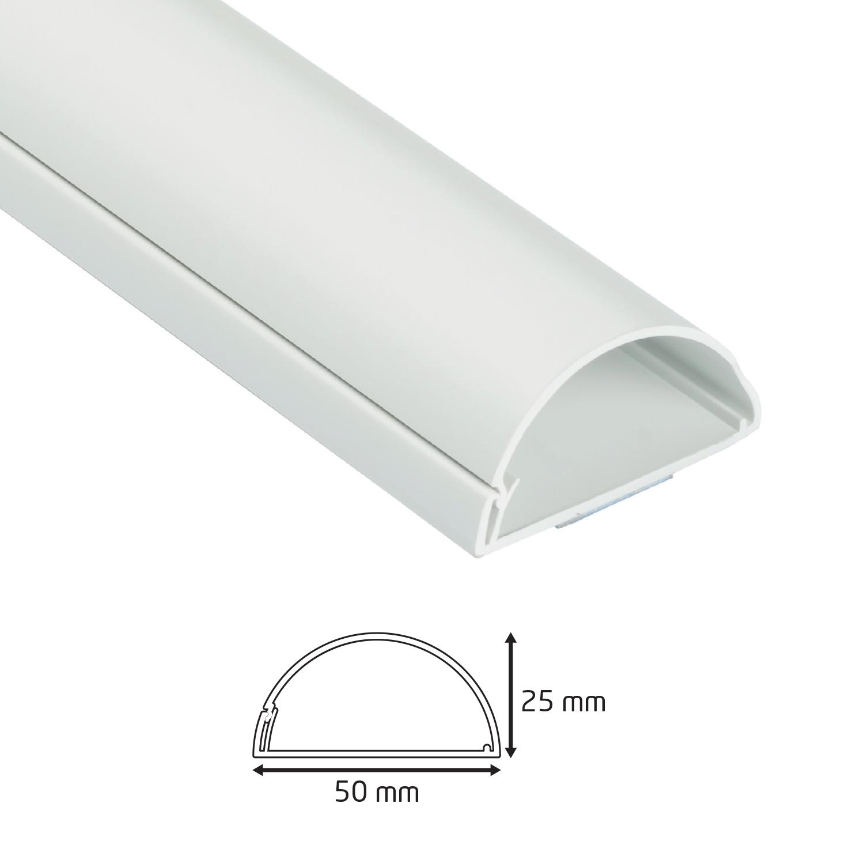 Goulotte 1/2 cercle D-Line® 50x25 mm Blanc