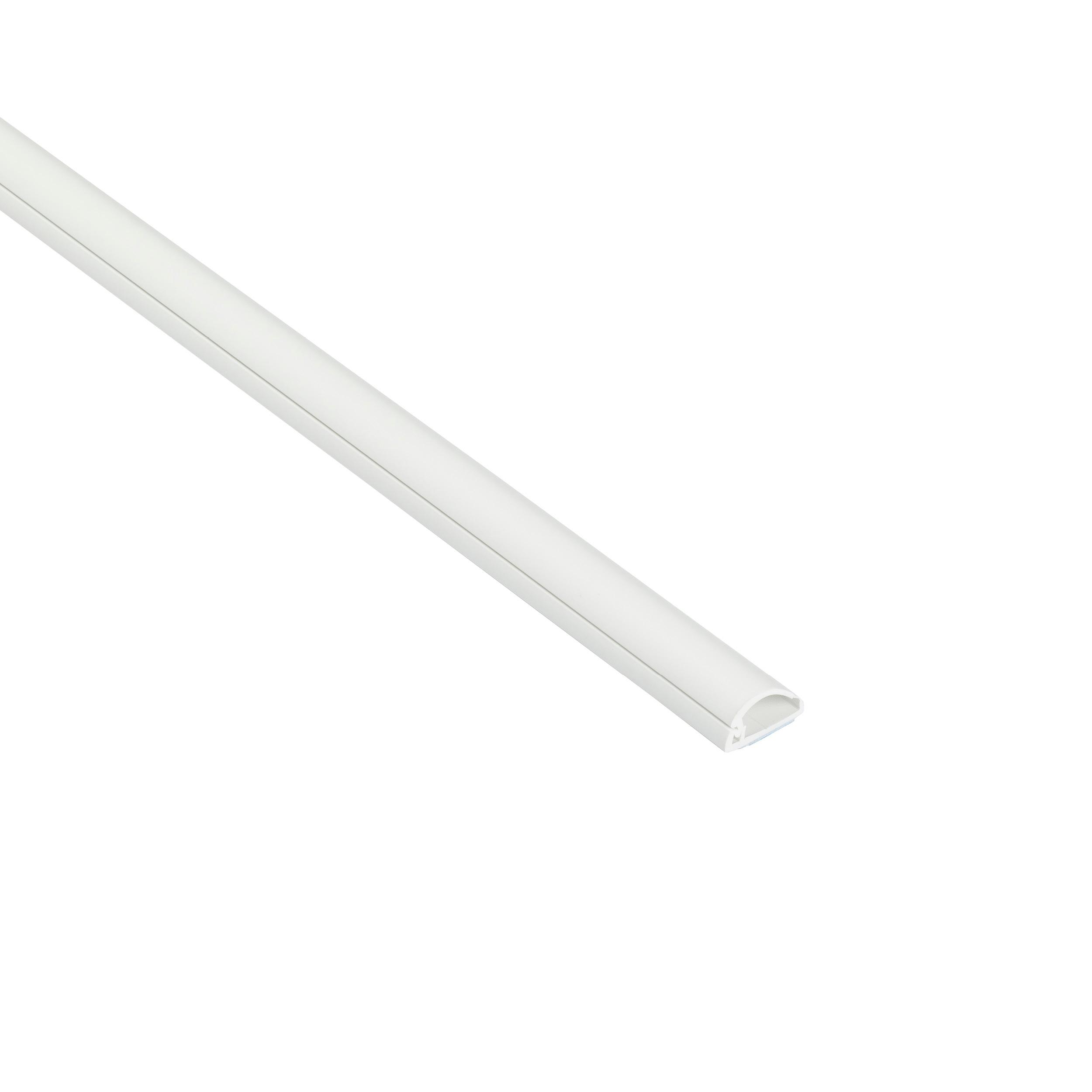Goulotte 1/2 cercle D-Line® 16x08 mm Blanc