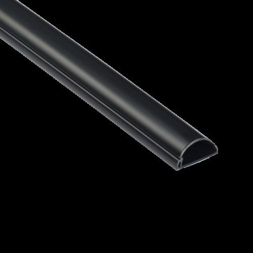 Goulotte 1/2 cercle D-Line® 50x25 mm Noir