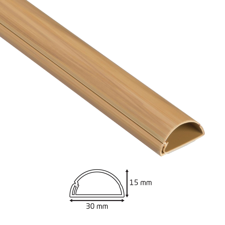 Goulotte 1/2 cercle D-Line® - 30x15mm - 2 m Bois Peignable
