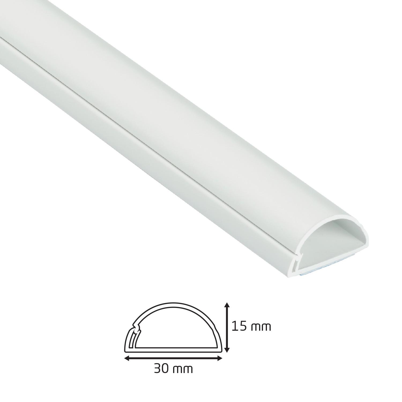 Goulotte 1/2 cercle  D-Line® - 30x15mm - 2 m Blanc