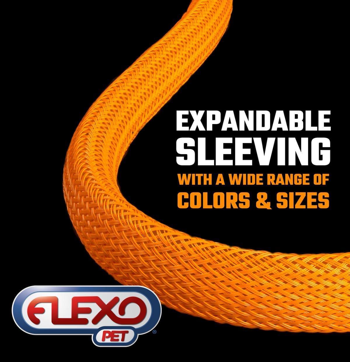 Gaine Tressée Expansible Flexo® PET  Réactive aux UV
