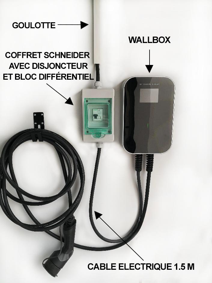WALLBOX Besen 7kw/ 32A  Monophasé Prise  Type 2
