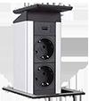EVOline® Port Push Cuisine Chargeur 2 × PC