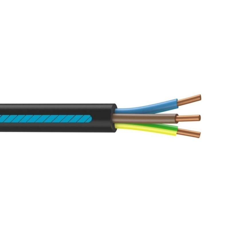 Câble électrique 3 G 6 mm²u1000r2v Longueur 5 m Noir