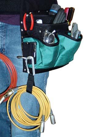 Porteur de câbles - Mousqueton en aluminium - 7.93 cm
