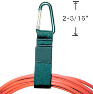 Porteur de câbles - Mousqueton Triangle en aluminium -  5.55 cm