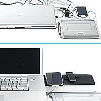 Station d'organisation de bureau et station d'accueil pour ordinateur portable