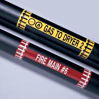 Auto-adhésifs en vinyle pour  marqueurs de tuyauteries - Brady