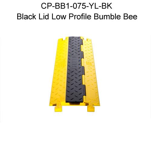 Rampe jaune et couvercle noir
