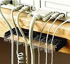 organisateur de câbles bureau