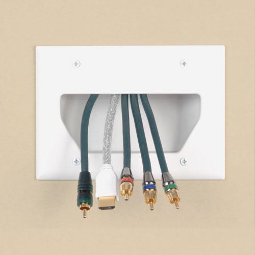 Prise murale basse tension de sortie de câbles Datacomm