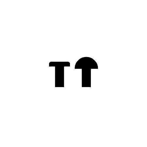 Amortisseur en caoutchouc en forme de tige en T