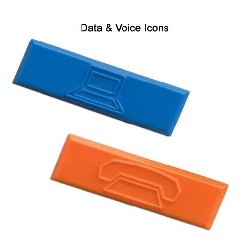 Icônes d'identification Panduit® Mini-Com® pour embases réseaux