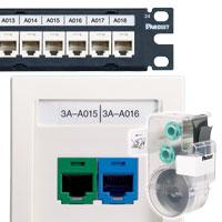 Cassette d\'étiquettes pour réseaux et composants P1™ Panduit®