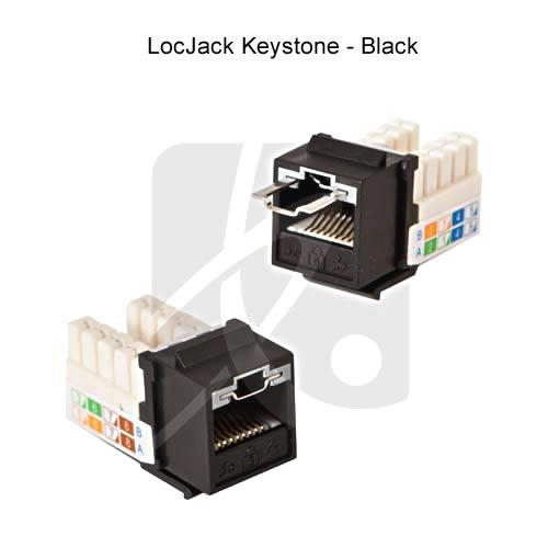 Jack Keystone sécurisés LocJack™ CAT 3, 5E et 6 - Système de verrou RJ45