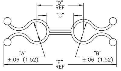 RICHCO Dual End Twist Lock Dimensions
