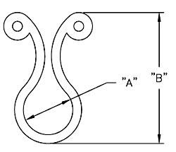 RICHCO Kurly Lock Dimensions