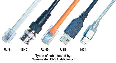 Wiremaster XR-5 : Appareil de contrôle de Câbles-Réseaux