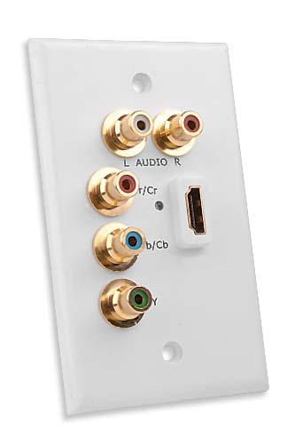Prise murale HDMI avec connexions vidéo composants Vanco
