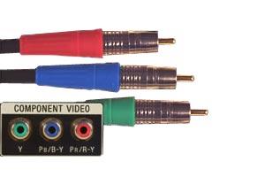 Les 3 connecteurs RGB Component
