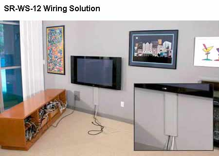 cacher les cables tv au mur. Black Bedroom Furniture Sets. Home Design Ideas