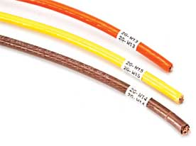 Étiquettes à enrouler pour fils et câbles pour imprimante BMP71