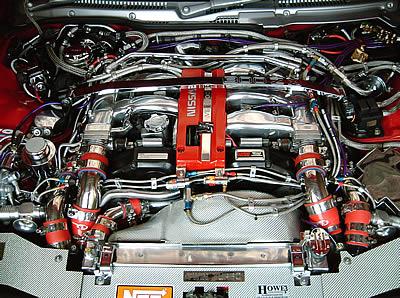 Baie moteur Nissan 300ZX TT avec ConvoShield Chromé.