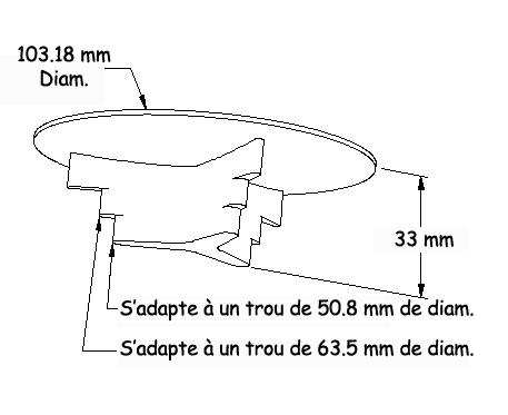 Passe-câble réhaussé en métal