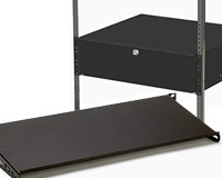 Tablette rack, Plateau baie