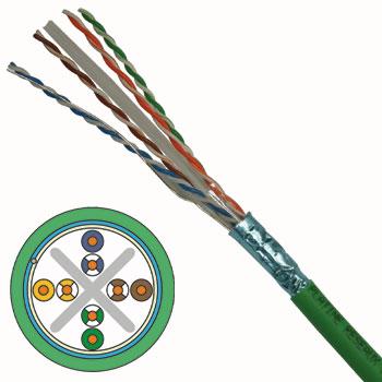 Bobine de câble réseau RJ45 CAT 6 FUTP LSZH Platine Réseaux