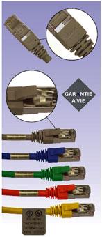 Cordons de brassage RJ45 CAT 6 surmoulés FTP