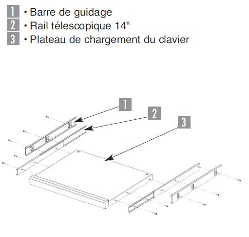 Tablette clavier fixation latérale