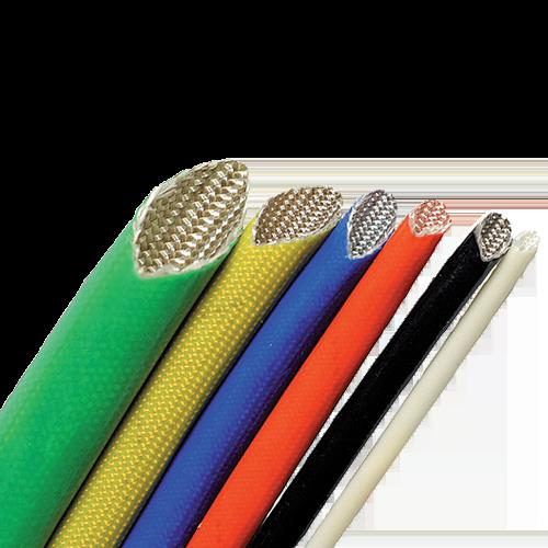 Gaine tressée en fibre de verre avec enduction PVC