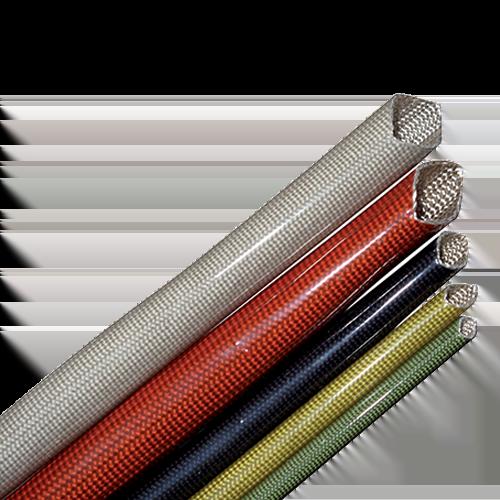 Gaine tressée en fibre de verre avec vernis polyuréthane - Rigidité Diélectrique 4kV