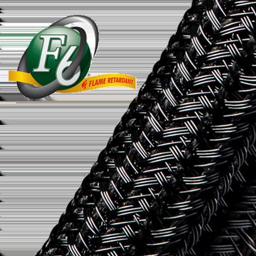 Gaine tressée fendue F6 Flame Retardant