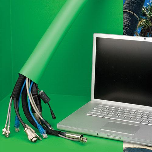 Gaine cache-câbles pour studio