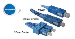 Connecteurs optiques SC - Platine Réseaux