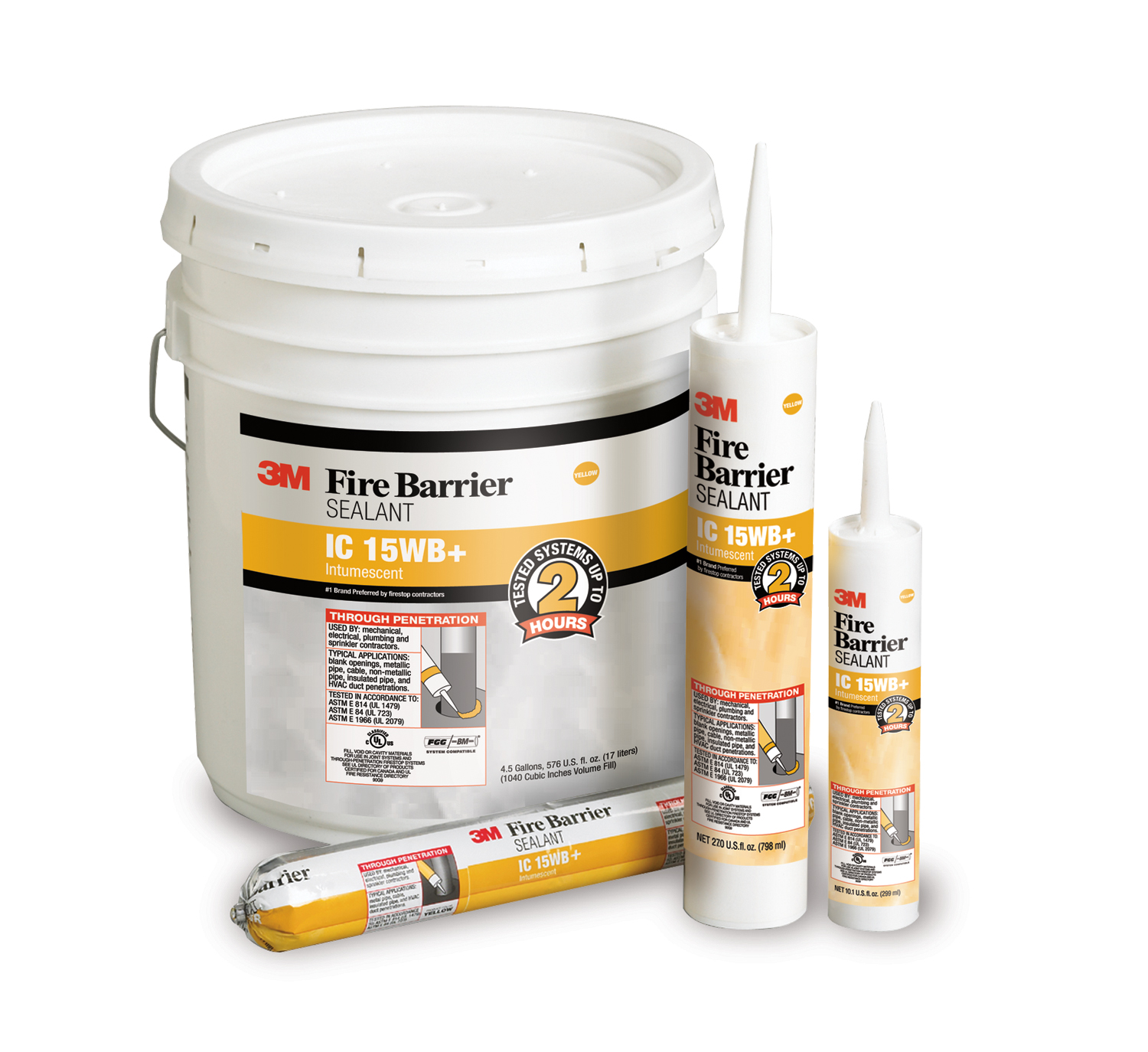 Mastic coupe feu Fire Barrier IC 15WB+ 3M
